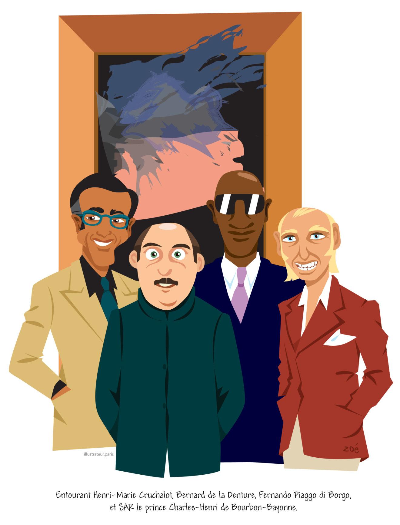 illustration vernissage Tronches de VIP
