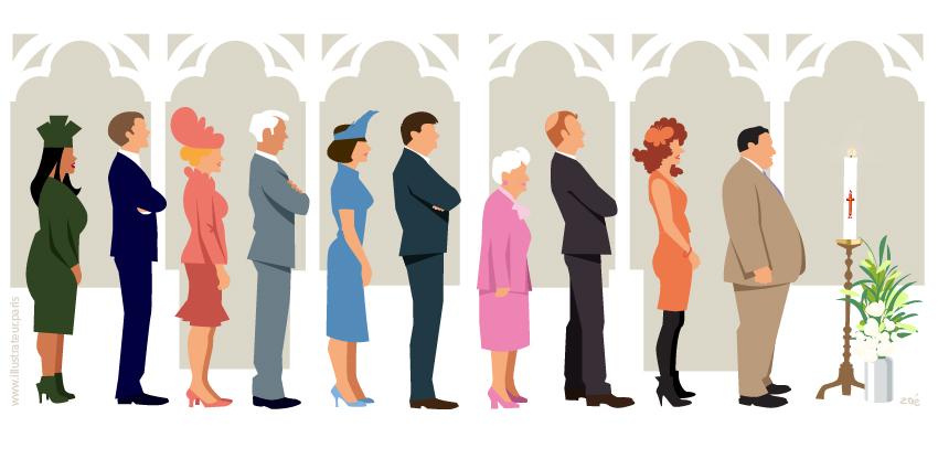 illustration messe mariage