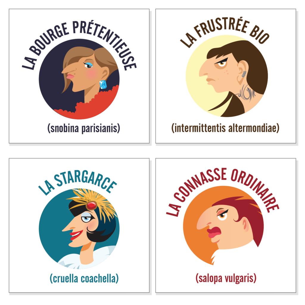 illustration stickers bitch