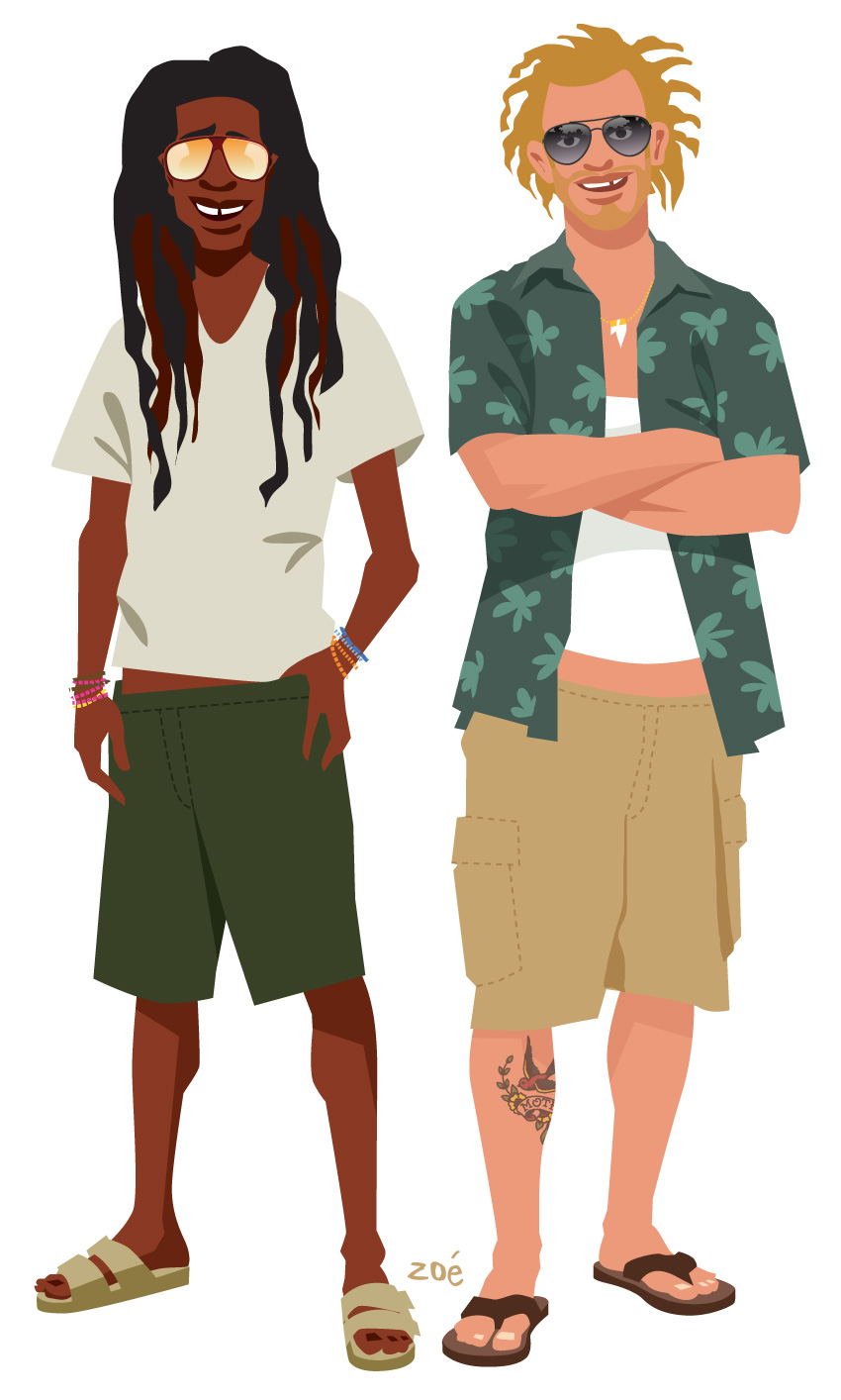 illustration skippers Guadeloupe