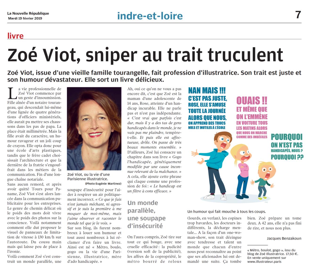 interview Zoé illustratrice la nouvelle république
