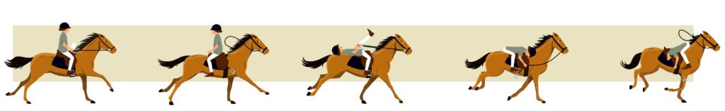 enfant handicapé cheval illustration