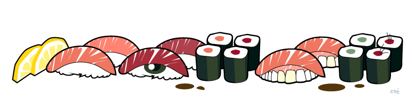 illustration sushis