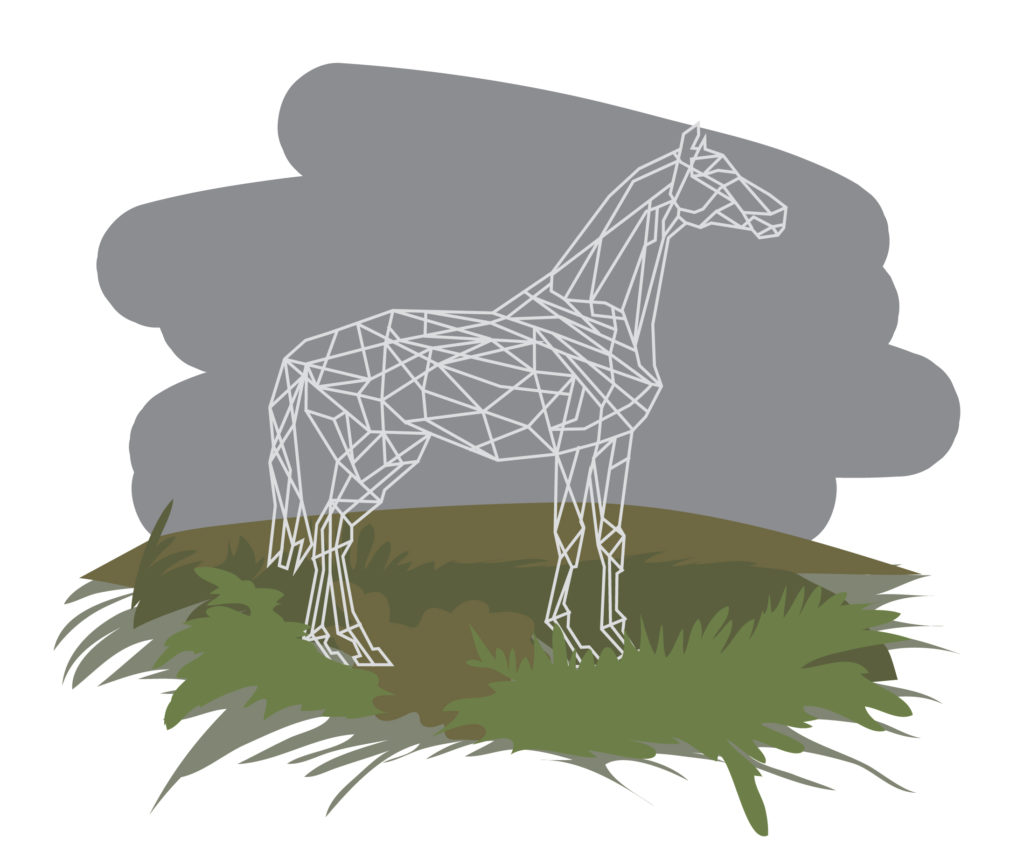 illustration autoroute sculpture cheval