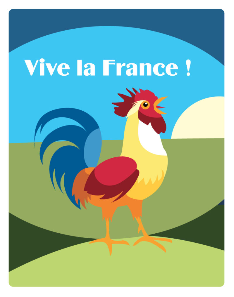 illustration coq france