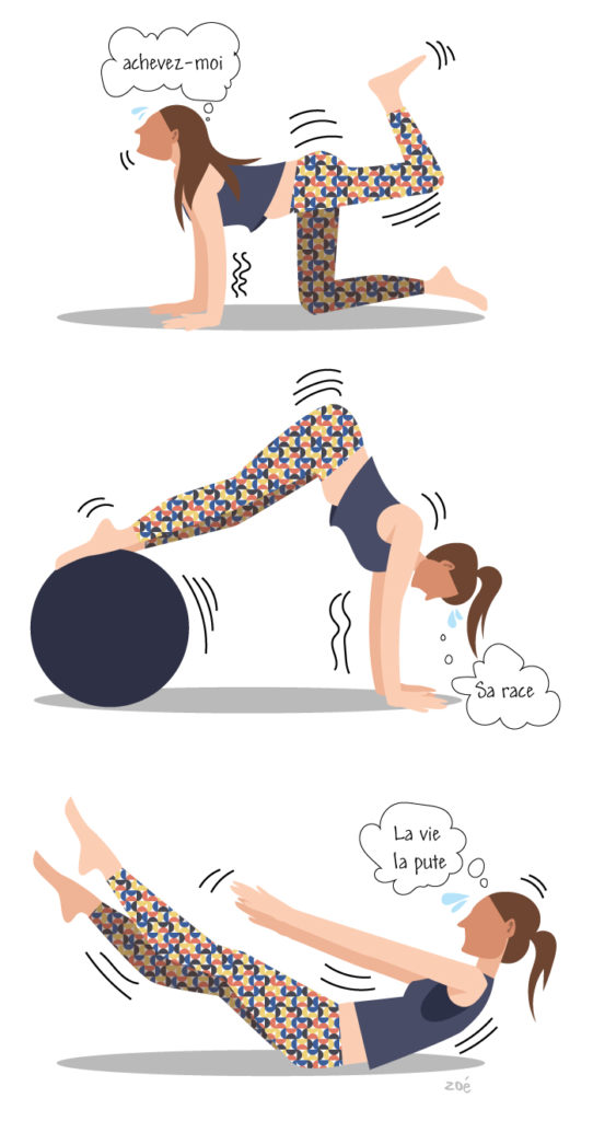 illustration pilates