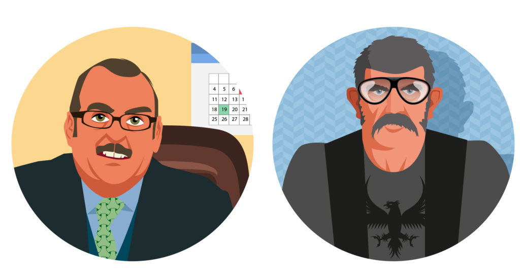illustration portrait hommes