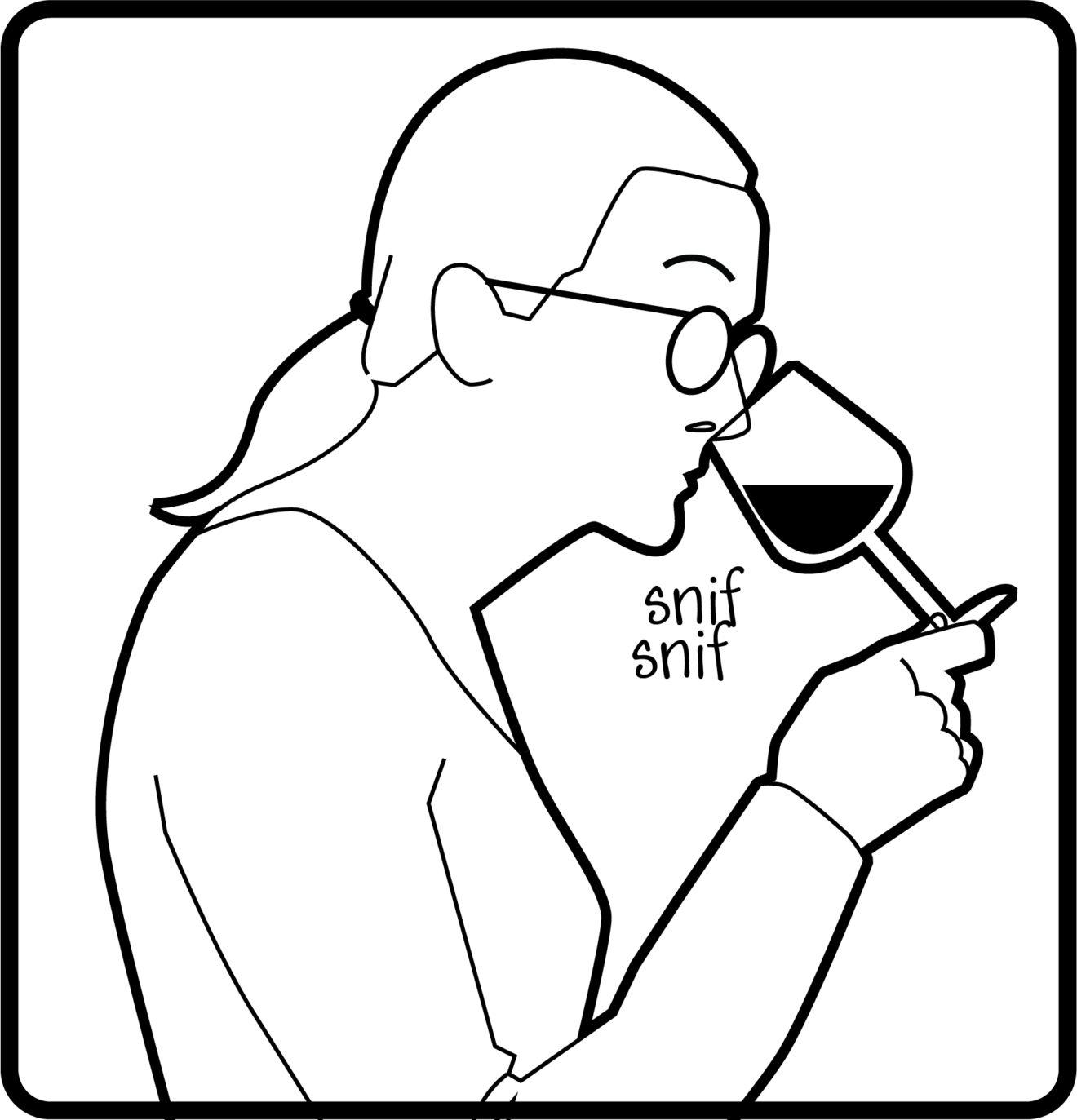 illustration dégustation de vin